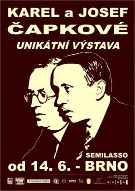 KAREL a JOSEF ČAPKOVÉ - UNIKÁTNÍ VÝSTAVA