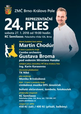 24. Reprezentační ples ZMČ Brno - Královo pole