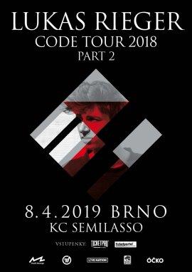 Brněnský koncert Lukase Riegra se přesouvá na 8.4.2019 více info níže