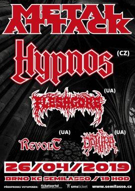 Hypnos, Fleshgore, Revolt, Datura